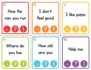 Punctuation Clip Cards - Clip the Correct Punctuation!
