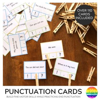 Punctuation Clip Cards - Ending Punctuation Practice