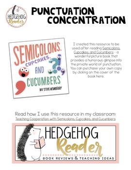 Punctuation Concentration ELA Center Activity