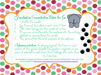 Punctuation Concentration (a grammar memory game)