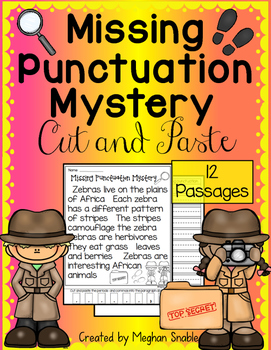Missing Punctuation Cut and Paste Pack