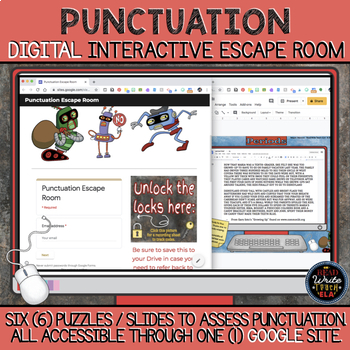 Punctuation DIGITAL Escape Room: Using Google Suite
