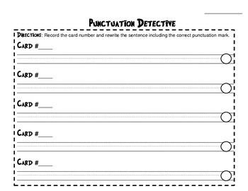 Punctuation Detective!