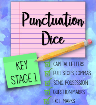 Punctuation Dice for Key Stage 1