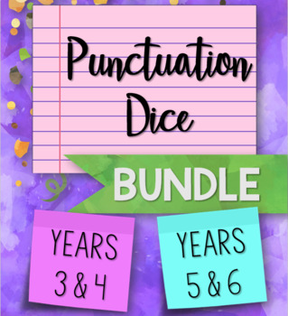 Punctuation Dice for Key Stage 2 BUNDLE