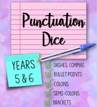 Punctuation Dice for Years 5 and 6
