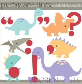Punctuation Dinosaur Clipart