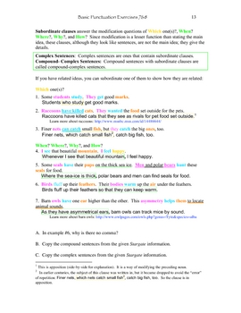 Punctuation Exercises 7&8