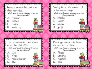 Punctuation Fiesta: Task Cards