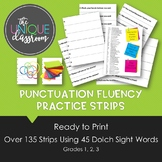 Punctuation Fluency Practice Strips