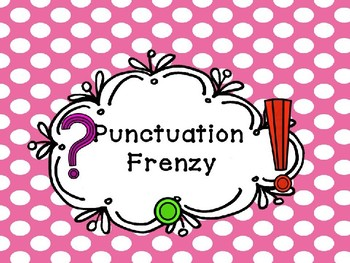 Punctuation Task Card Frenzy