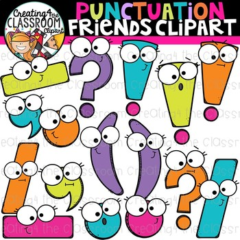 Punctuation Friends Clipart School Clipart By Creating4 The Classroom