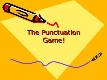 Punctuation Game-Advanced Skills