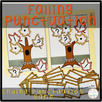 Punctuation Game (End Punctuation Activity) - Fall Theme