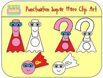 Punctuation Hero Clip Art