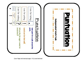 Punctuation Independent Task Cards