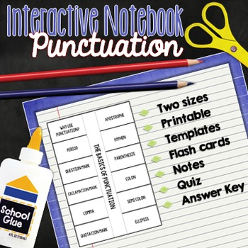 Punctuation Interactive Notebook: Activities for Middle and High School Students