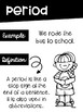 Punctuation Kids Rules Posters in Black and White for EASY PRINTING