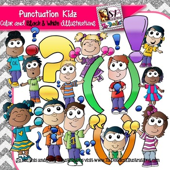 Punctuation Kids clip art