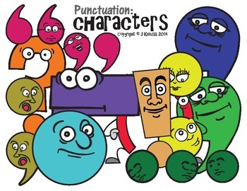 Punctuation Mark Cartoon Characters (US Version)