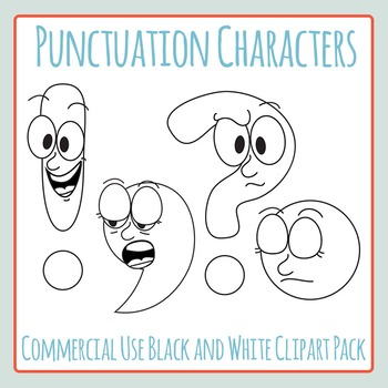 Punctuation Mark Character Clip Art Showing Who They Are Commercial Use Clipart
