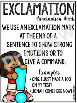 Punctuation Marks Posters & Anchor Charts Classroom Decor