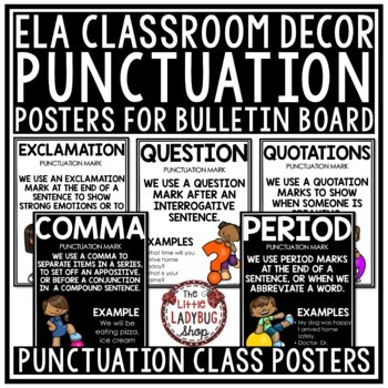 Punctuation Mark Posters • Punctuation Mark Anchor Charts