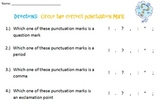 "Punctuation Mark Worksheet: ""Which Mark is Which?"""