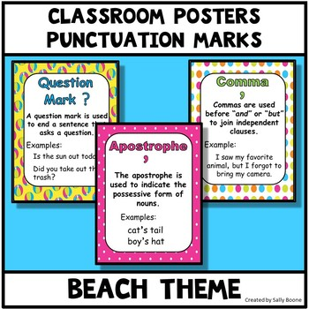 Punctuation Marks Beach Theme Anchor Charts