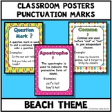Punctuation Marks Posters - Beach Theme