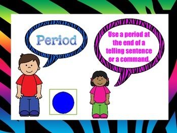 Punctuation Marks- Colorful Zebra