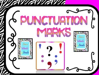 Punctuation Marks- Colorful Zebra
