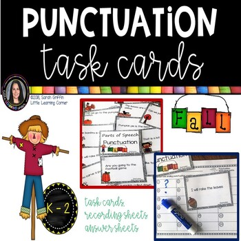 Punctuation Marks ~ Fall Themed ~ Task Cards Writing Center