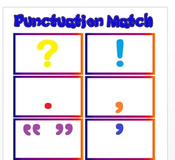 Punctuation Marks Match