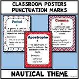 Punctuation Marks Posters - Nautical Theme