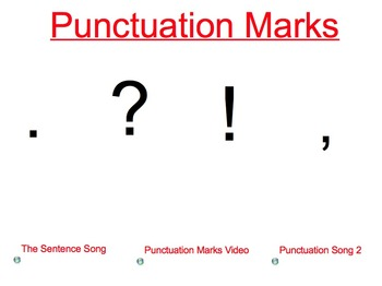 Punctuation Marks: Period, Question Mark, Exclamation Point, and Comma