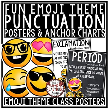 Punctuation Marks Posters & Anchor Charts Emoji Theme Classroom Decor