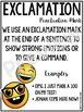 Punctuation Posters Emoji Theme Classroom - Punctuation Mark Anchor Charts