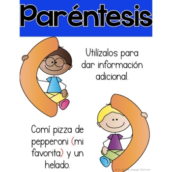 Punctuation Marks Posters Spanish