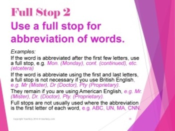 Punctuation Marks PowerPoint