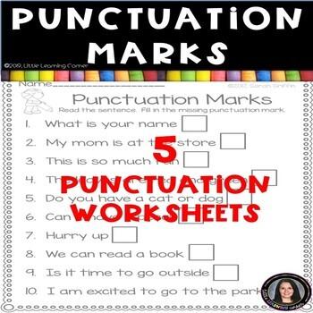 Punctuation Marks Worksheets