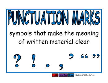 Punctuation Marks blue