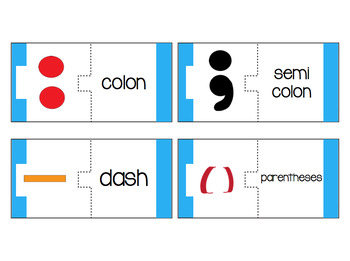 Punctuation Match Cards