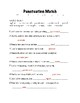 Punctuation Match and answer sheet