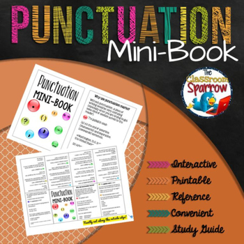 Punctuation Mini-Book (A Perfect Addition to an ELA Interactive Notebook)