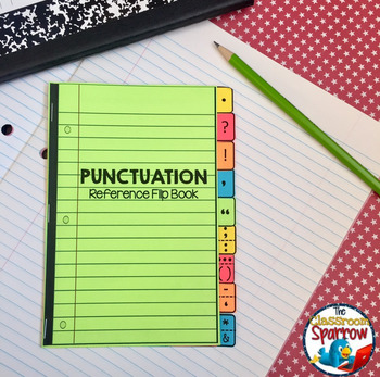 Punctuation Interactive Notebook Flip Book (mini-lesson, quick reference)