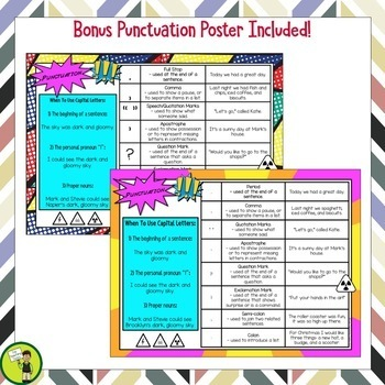 Punctuation Task Cards (Multi-Choice)