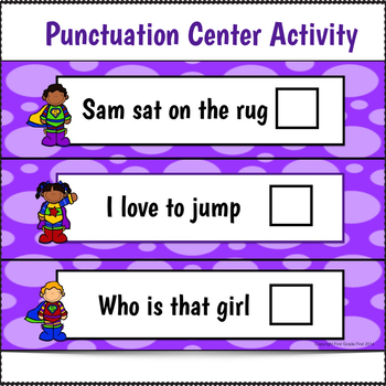 Punctuation Activities Period, Exclamation Mark, and Question Mark