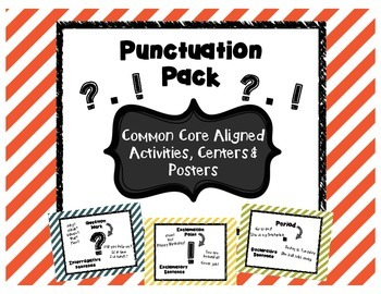 Punctuation Pack- End Punctuation Practice- Centers, poste