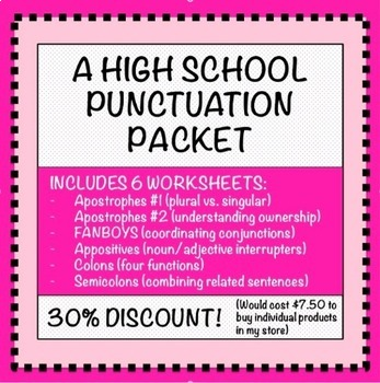 Punctuation Packet: A Bundle for 7-12!